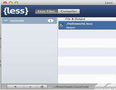 图 2. 导入 LESS 文件夹的界面,左侧可添加存放在多个不同路径的文件夹。