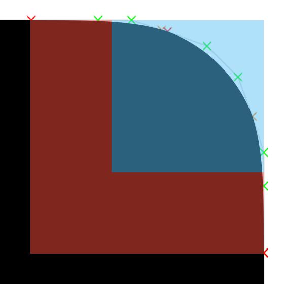 x^3 + y^3 = 1 与圆角矩形